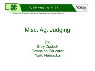 Misc. Ag. Judging