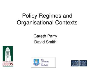 Policy Regimes and Organisational Contexts