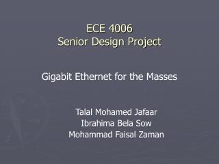 ECE 4006 Senior Design Project