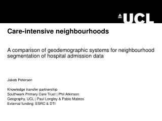 Care-intensive neighbourhoods