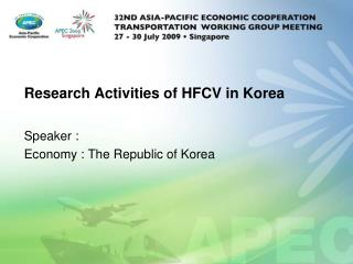 Research Activities of HFCV in Korea