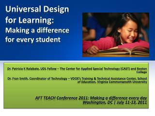 Universal Design for Learning: Making a difference for every student