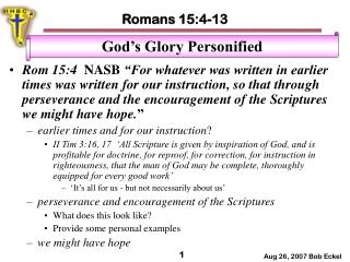 The Hope of Glory  Revelation 5:9-10