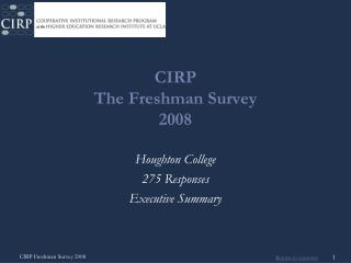 CIRP The Freshman Survey 2008