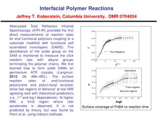 Interfacial Polymer Reactions Jeffrey T. Koberstein, Columbia University,  DMR 0704054
