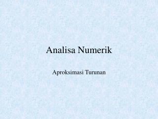 Analisa Numerik