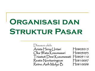 Organisasi dan Struktur Pasar