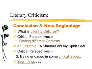 Literary Criticism: