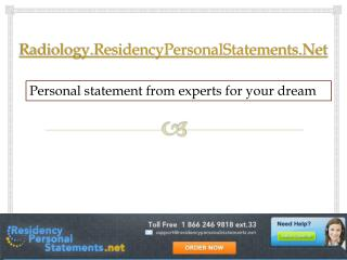 Radiology Residency Personal Statements