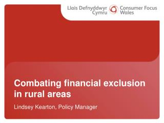 Combating financial exclusion in rural areas