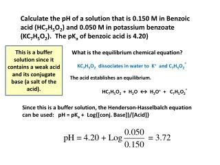 What is the equilibrium chemical equation?