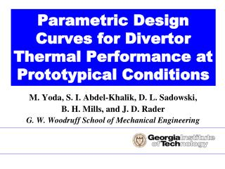 Parametric Design Curves for Divertor Thermal Performance at Prototypical Conditions