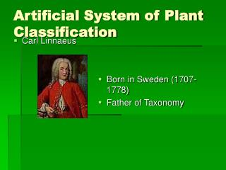 Artificial System of Plant Classification