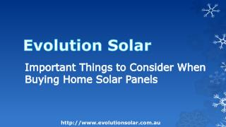 Important Things to Consider When Buying Home Solar Panels