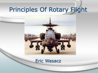 Principles Of Rotary Flight