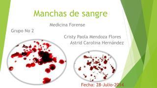 Manchas de sangre