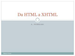 Da HTML a XHTML