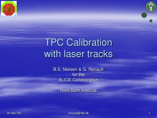 TPC Calibration with laser tracks