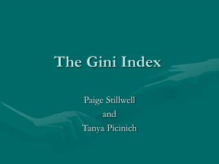 The Gini Index