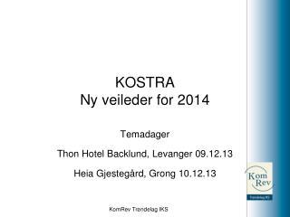 KOSTRA Ny veileder for 2014