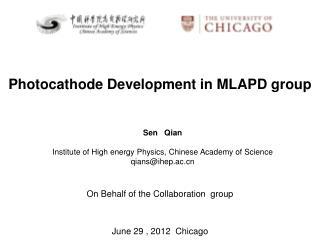 Photocathode Development in MLAPD group