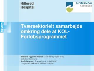 Tværsektorielt samarbejde omkring dele af KOL-Forløbsprogrammet