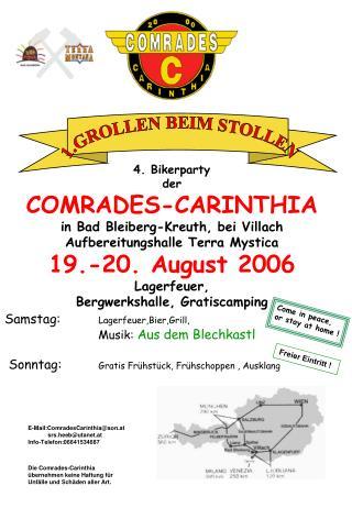 4. Bikerparty  der COMRADES-CARINTHIA in Bad Bleiberg-Kreuth, bei Villach