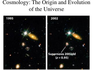 Cosmology: The Origin and Evolution of the Universe