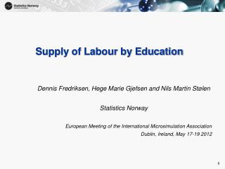 Supply of Labour by Education