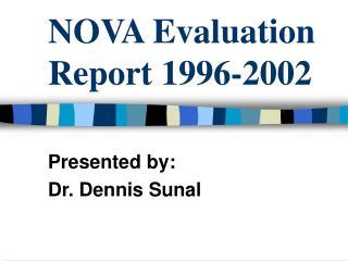 NOVA Evaluation Report 1996-2002