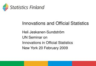 Innovations and Official Statistics