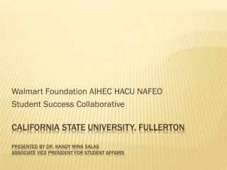 Walmart Foundation AIHEC HACU  NAFEO Student  Success Collaborative