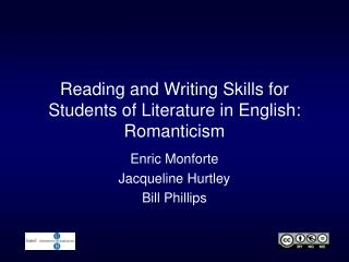 Reading and  Writing Skills for Students  of  Literature  in  English :  Romanticism