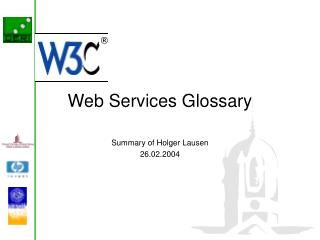 Web Services Glossary