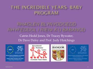 The Incredible Years- Baby program Rhaglen Blynyddoedd rhyfeddol i rieni a'u babanod