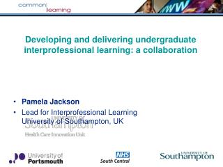 Developing and delivering undergraduate interprofessional learning: a collaboration
