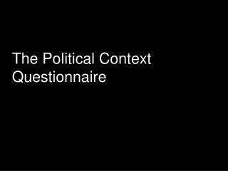 The Political Context Questionnaire