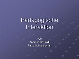 P�dagogische Interaktion