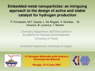 Chemistry Department, INSTM & Centre of Excellence for Nanostructured Materials