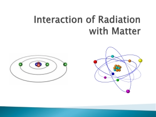 Interaction of radiation  matter