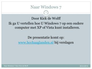 Naar Windows 7