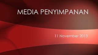 Media  Penyimpanan