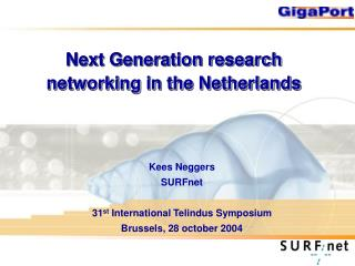 Next Generation research networking in the Netherlands