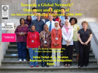 Towards a Global Network? Outcomes and Legacy of  the International Training Programme (2006-2009)