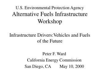 Peter F. Ward California Energy Commission San Diego, CA        May 10, 2000