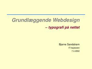 Grundlæggende Webdesign – typografi på nettet