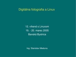 Digitálna fotografia a Linux