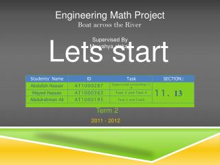 Engineering Math Project