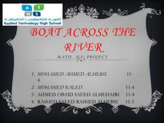 Boat across the  River Math. (ES) Project