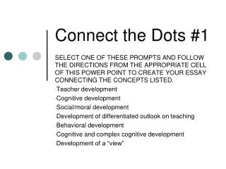 Connect the Dots #1